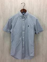 半袖シャツ/XS/コットン/WHT/ストライプ