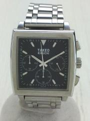 クォーツ腕時計/アナログ/ステンレス/BLK/SLV/TK-1083/コマ×3