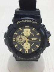 クォーツ腕時計・G-SHOCK/アナログ/GLD/BLK
