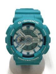クォーツ腕時計/デジアナ/ラバー/青/GA-110SN/G-SHOCK/20気圧防水/カシオ