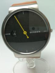 クォーツ腕時計/アナログ/レザー/SKW6194/アンカー/革ベルト/スカーゲン
