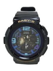 クォーツ腕時計・Baby-G/デジアナ/ラバー/マルチカラー/GRY