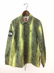 Supreme 18SS Snakeskin Taped Seam Coaches Jacket/M/ナイロン/GRN
