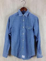 シャンブレーシャツ/FREE/コットン/BLU