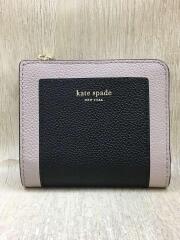 2つ折り財布/レザー/ブラック