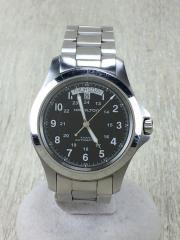 自動巻腕時計/アナログ/BLK/カーキキングデイデイトオート/H644550
