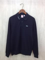×LACOSTE/17SS/Jersey Polo/ロングポロシャツ/M/コットン/BLK