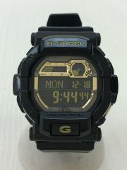 クォーツ腕時計/デジタル/BLK