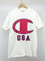 ビッグロゴプリントT/Tシャツ/M/コットン/ホワイト