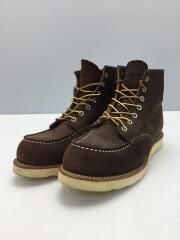 8878/モックトゥ/ブーツ/26cm/BRW/スウェード