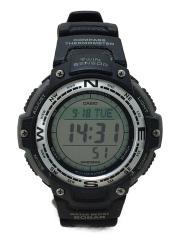 CASIO/クォーツ腕時計/デジタル/ラバー/CLR/BLK/SGW-100J