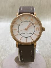 クォーツ腕時計/アナログ/レザー/GLD/BEG/MJ1538
