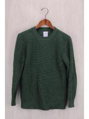 Royal Rib Stitch Pullover/セーター(厚手)/S/コットン/GRN