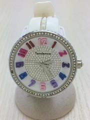 クォーツ腕時計/アナログ/レザー/BLK