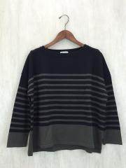 セーター(厚手)/FREE/ウール/BLK/ボーダー
