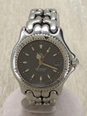 クォーツ腕時計/アナログ/BLK/SLV