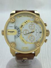クォーツ腕時計/アナログ/レザー/ゴールド