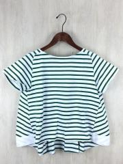 Tシャツ/2/コットン/GRN/ボーダー
