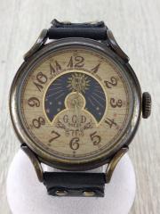 腕時計/アナログ/レザー/BRW/IDG