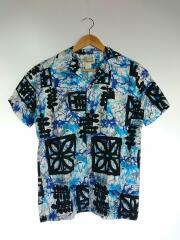 ISLAND CASUALS/70年代/アロハシャツ/16/コットン/BLU/総柄
