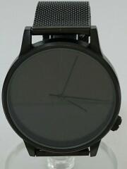 クォーツ腕時計/アナログ/BLK/W2353