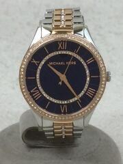 ローリン/クォーツ腕時計/アナログ/シルバー×ローズゴールド×ブルー/MK-3929