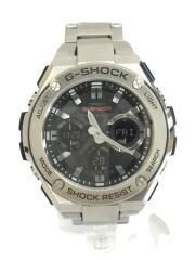 ソーラー腕時計・G-SHOCK/デジアナ/ステンレス/SLV/取説あり
