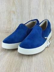 シューズ/43/BLU/コーデュロイ/青/靴/スニーカー