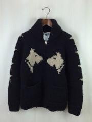 2015AW/LUCKY13 CANADIAN SWEATER/セーター(厚手)/--/ウール/BLK/毛玉有