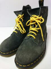 8 EYELET BOOT/レースアップブーツ/US9/GRY/スウェード/21466