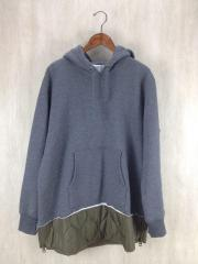 16AW/QUILTED MIX PULLOVER SWEAT PARKA/パーカー/XL/コットン/MGJ-CS07