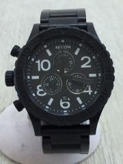 腕時計/アナログ/3針/ラウンド/BLK