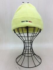 16SS/DEATH BOWL KNIT BEANIE/ニットキャップ/YLW/クーティー/中古
