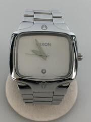 PLAYER/クォーツ腕時計/アナログ/ステンレス/WHT/SLV/A140-100