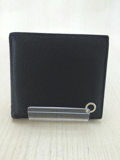 1172837d1e9b BVLGARI(ブルガリ) / 2つ折り財布/レザー/BLK/無地/メンズ/30396 ...