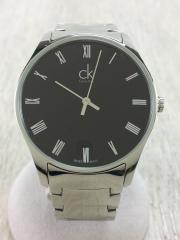 クォーツ腕時計/--/--/BLK/SLV
