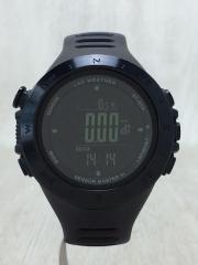 LAD WEATHER/腕時計/デジタル/ラバー/BLK/BLK