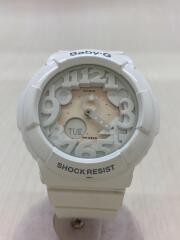 カシオ/クォーツ腕時計・Baby-G/デジアナ/ホワイト