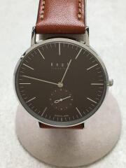 腕時計/アナログ/レザー/BRW/BRW