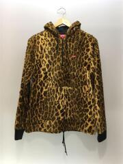 14SS/Fur Pullover/S/コットン/YLW/レオパード