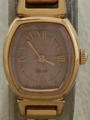 ソーラー腕時計/アナログ/--/PNK/GLD
