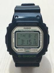 クォーツ腕時計/デジタル/ラバー/NVY