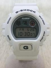 G-SHOCK/クォーツ腕時計/デジタル/GRY/WHT
