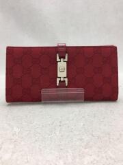 GG/ジャッキー/長財布/コットン/RED/035・2067・2134