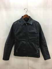 レザージャケット/40/牛革/ブラック/COOL SCAT/ジップブルゾン/メンズ/キルティング