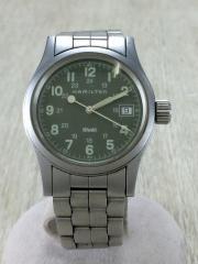クォーツ腕時計/デジタル/ステンレス/KHK/SLV