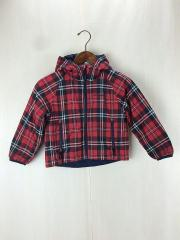ジャケット/--/ポリエステル/RED/チェック