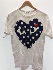 Tシャツ/L/コットン/ホワイト/プリント/ドット/2017model/AZ-T234