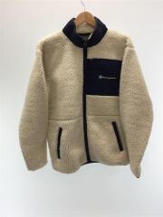ボアフリースジャケット/L/ポリエステル/アイボリー/ネイビー/C3-Q615