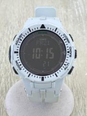G-SHOCK/ソーラー腕時計/デジタル/--/BLK/WHT/PRG-300/PRO TREK
